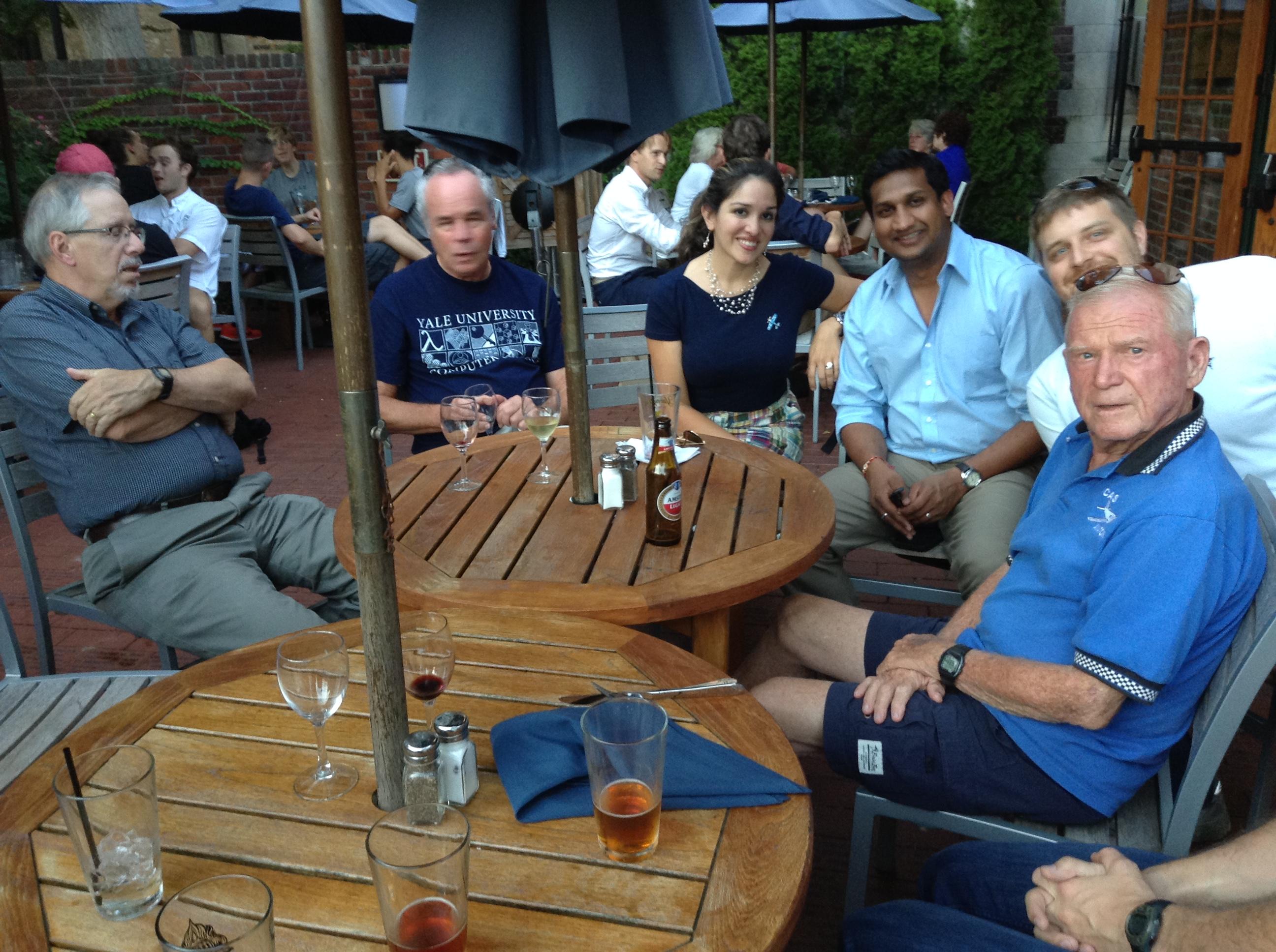Mory's 9-18-2015 - Charlie, Tom, Alark, Avi, and Larry