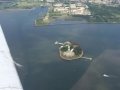 circling the Statue of Liberty